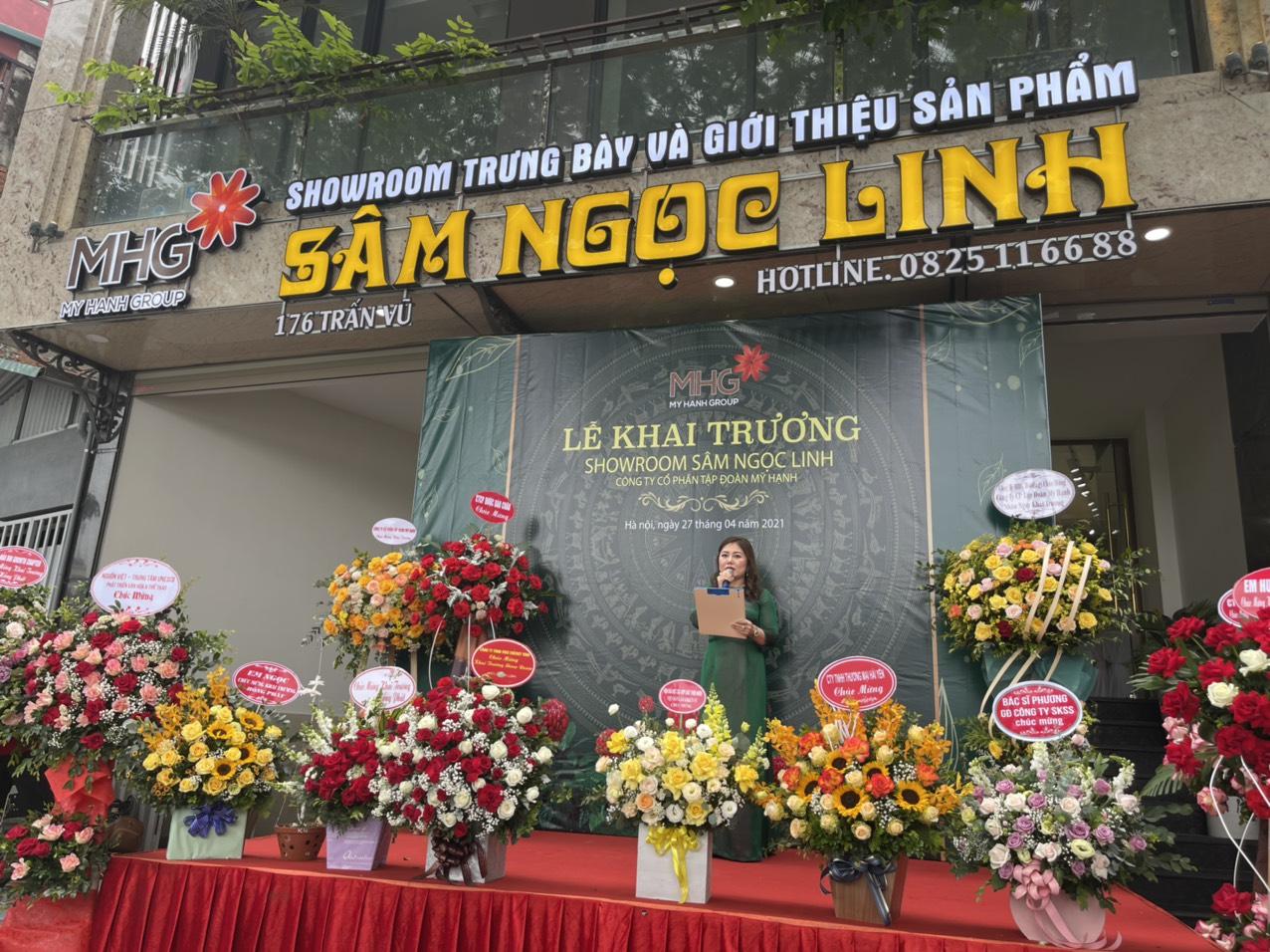 Công ty Cổ phần Tập đoàn Mỹ Hạnh( MHG) khai trương showroom Sâm Ngọc Linh thứ 14 tại 176 Trấn Vũ - Ba Đình - Hà Nội .