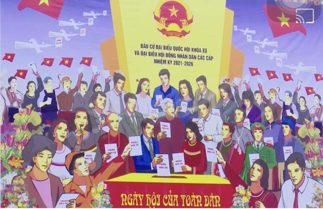 Hà Nội - Diễu hành tuyên truyền về ngày hội của toàn dân.