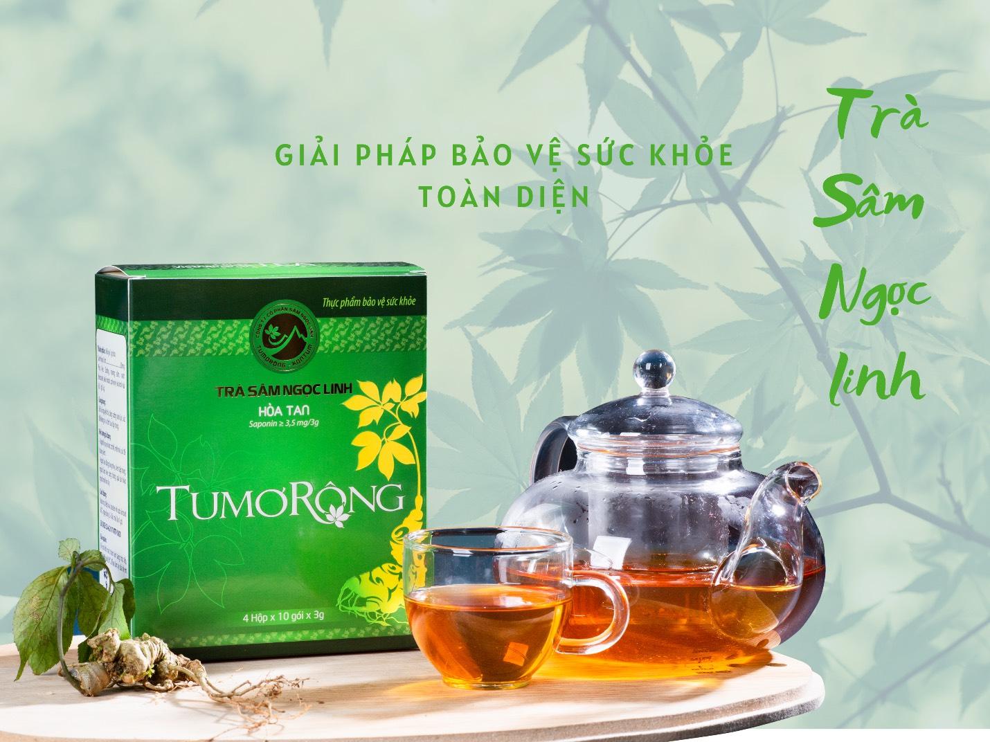 Trà sâm Ngọc Linh - Thức uống tăng cường sức đề kháng mùa dịch